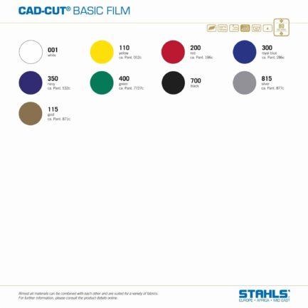 Basic Heat Press Vinyl | STAHLS Basic Film | Colour Range