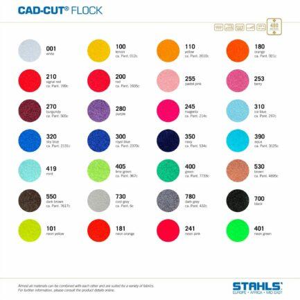 Flock HTV   STAHLS Flock Heat Transfer Vinyl   Colour Range