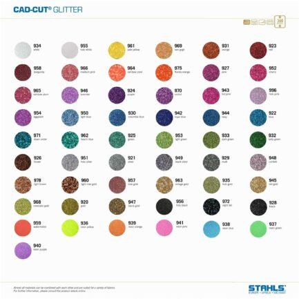 Glitter HTV | STAHLS Glitter Heat Transfer Vinyl | Colour Range