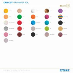 Heat Transfer Foils For Garments | 300mm wide by 7.6m roll | Colour Range