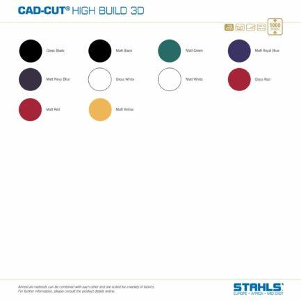 STAHLS CAD-Cut High Build Heat Transfer Vinyl   Colour Range