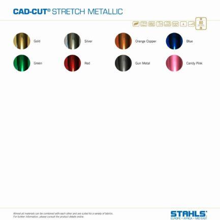 Metallic HTV   STAHLS Stretch Metallic Heat Transfer Vinyl   Colour Range