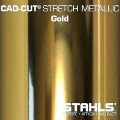 Metallic HTV | STAHLS Stretch Metallic Heat Transfer Vinyl | Gold