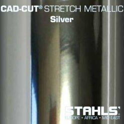 Metallic HTV | STAHLS Stretch Metallic Heat Transfer Vinyl | Silver