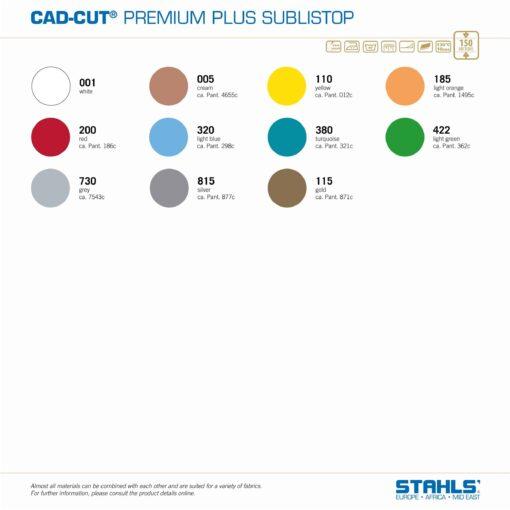 Subli-Dye Blocker HTV | STAHLS Premium Plus SubliStop | Colour Range
