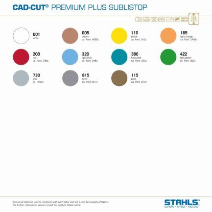 Subli-Dye Blocker HTV   STAHLS Premium Plus SubliStop   Colour Range