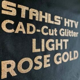 Stahls CAD-Cut Glitter HTV in Light Rose Gold