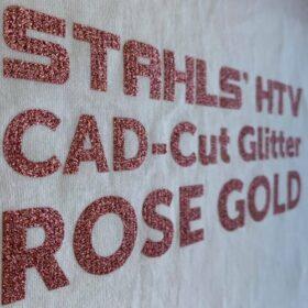 Stahls CAD-Cut Glitter HTV in Rose Gold