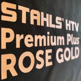 Stahls CAD-Cut Premium Plus HTV Vinyl in Rose Gold