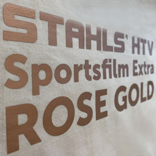 Stahls CAD-Cut Sportsfilm Extra in Rose Gold