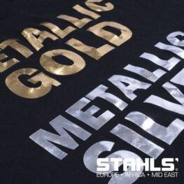 Metallic HTV | STAHLS Stretch Metallic Heat Transfer Vinyl | 500mm Wide, Sold in Metre Lengths