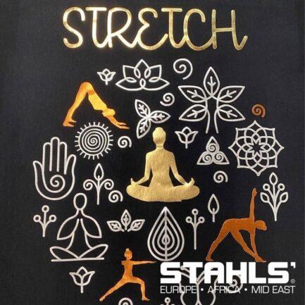 Metallic HTV   STAHLS Stretch Metallic Heat Transfer Vinyl   500mm Wide, Sold in Metre Lengths