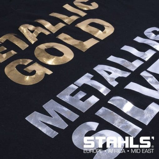 Metallic HTV | STAHLS Stretch Metallic Heat Transfer Vinyl | 500mm Wide, Sold in Metre Lengths