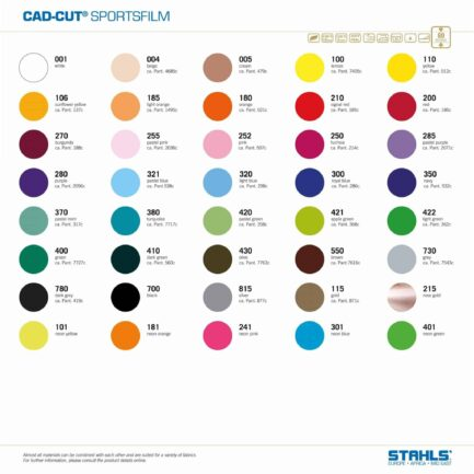 T-Shirt Vinyl | STAHLS Sportsfilm Extra | Colour Range