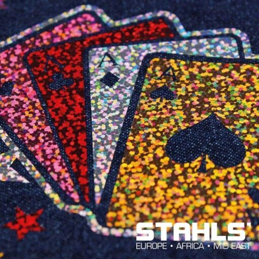 Holographic Heat Transfer Vinyl (CAD-Cut Effect) For Garments (500mm wide)